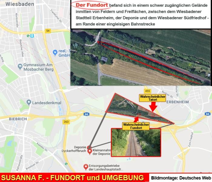 Fundort Karte Susanna Feldmann Tatort